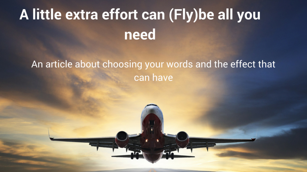 An article by Ian Graham of Swayed Greyhound about choosing your words and the effect that can have